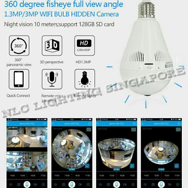 E27 360Eyes HD Mini IP Camera