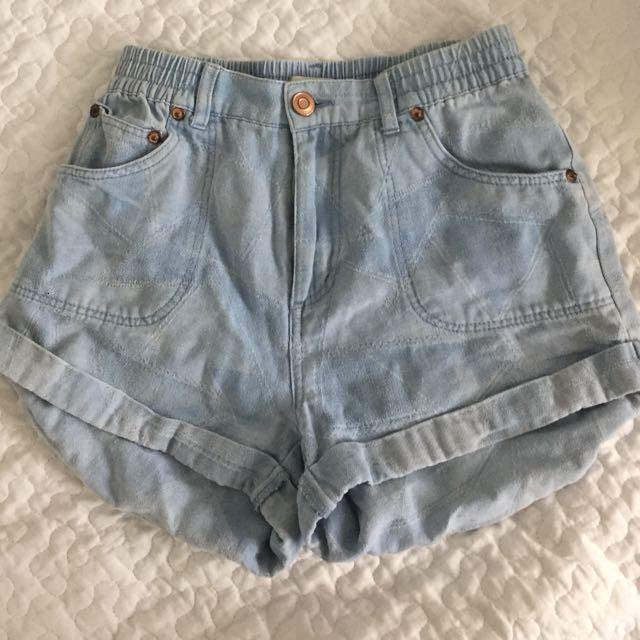 Elwood Denim High Waist Shorts