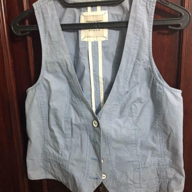 ESPRIT Vest Light Blue Size 8 (US)