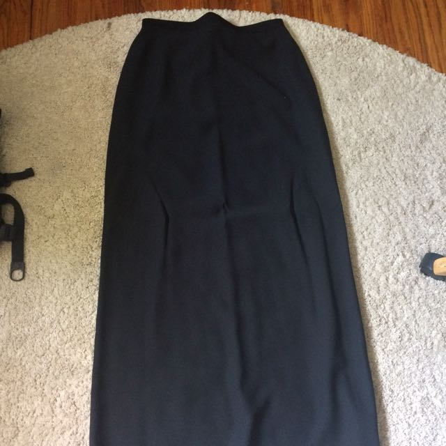 Floor Length Black Skirt