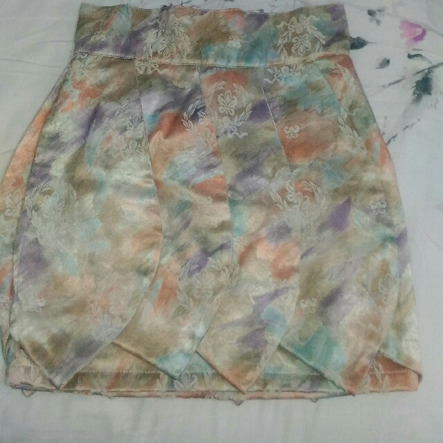 Floral Flappy Mini Skirt