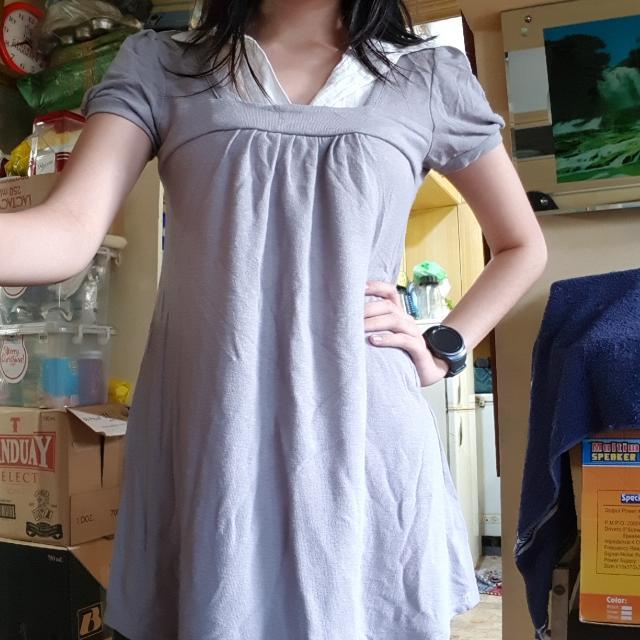 Gray Mini Dress Or Blouse