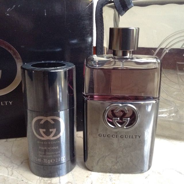 GUCCI Guilty Perfume and Deodorant for Men (gift pack)
