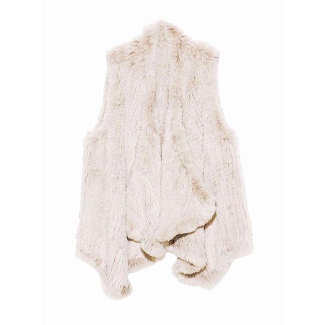 H Brand Rabbit Fur Vest