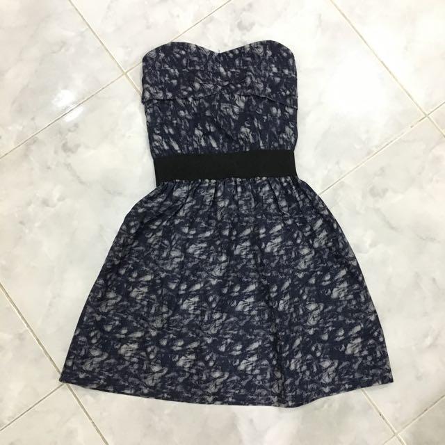 Heart shape denim mini dress