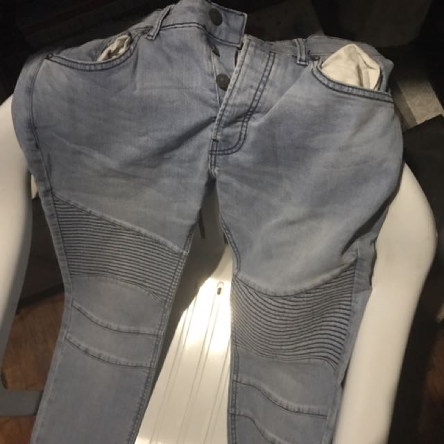 H M Biker Jeans Men S Fashion Clothes On Carousell