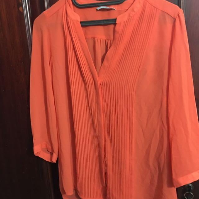 H&M Blouse Orange Size L