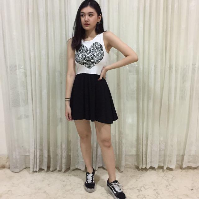 HnM black&white dress