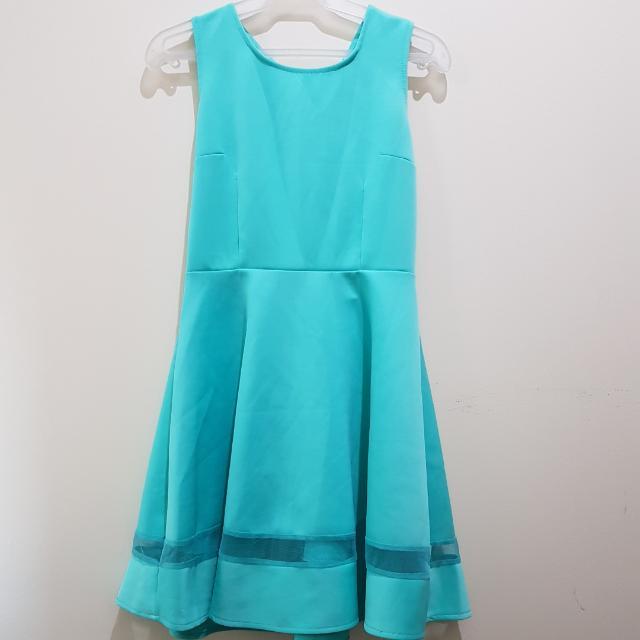 INITIALS BY BOYET FAJARDO | Mint Green Mesh Hem Dress