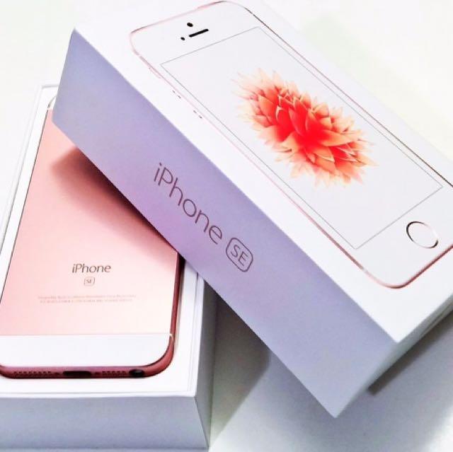 iPhone SE 64gb Rosegold (RG) Factory Unlocked (FU)