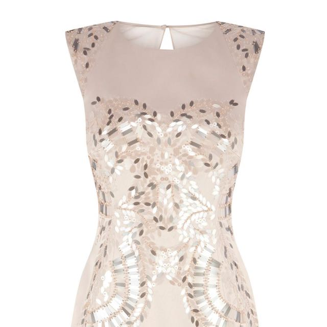 Karen Millen Sequinned Dress In Rose