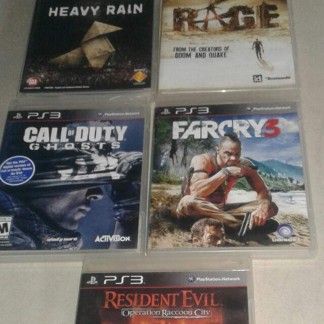 Kaset PS3 Mulus Lancar Jaya : Farcry 3 Heavy Rain COD Ghost Resident Evil Operation raccoon City RAGE