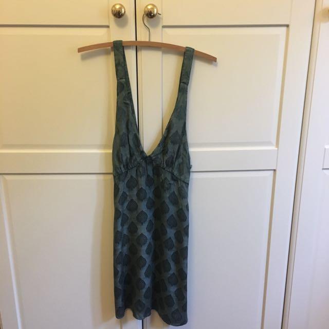Kimchi Blue - Turquoise Pattern Dress