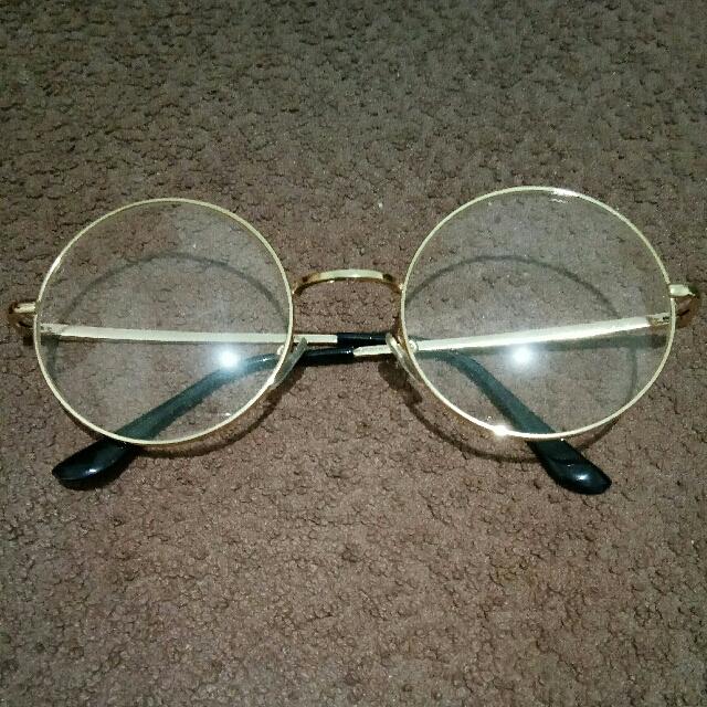 Korean Round Glasses #Gold