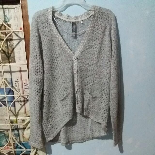 Light Grey Knitted Outer