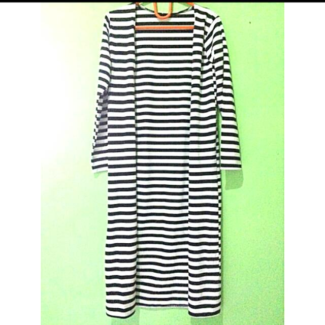 Long Outer Stipes BW