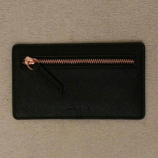 💡REDUCED!! MARCS Tex Zip Compartment Card Holder in Black