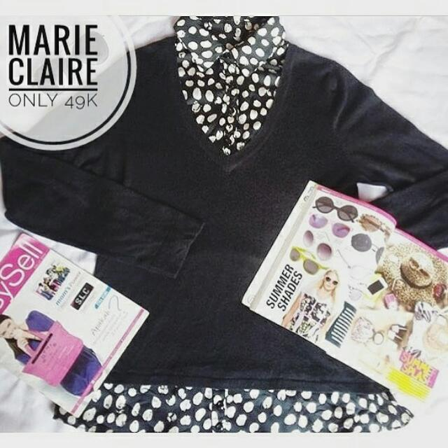 Marie Claire Black Sweater Shirt