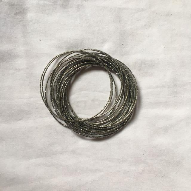 Metallic Hoop Bracelet