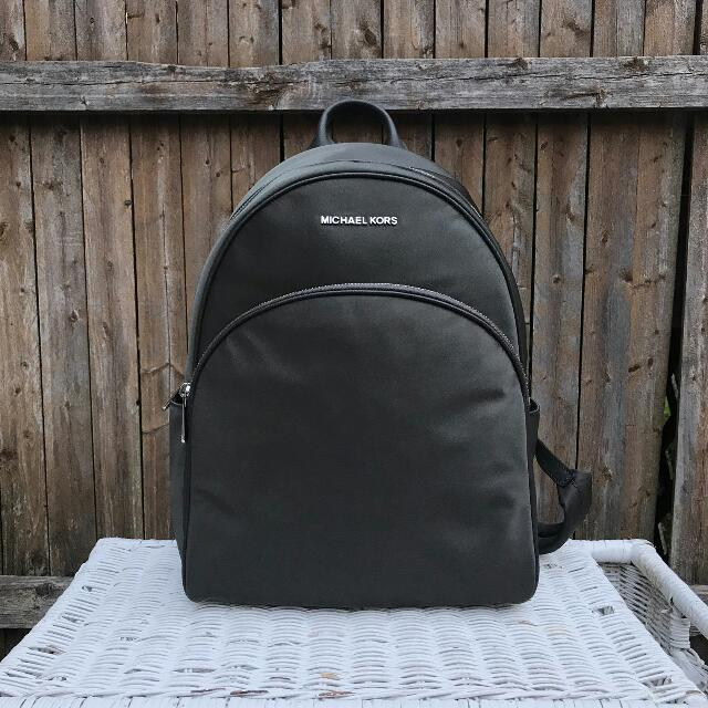 674a317bd2650 Michael Kors Abbey Nylon Large Backpack in Graphite