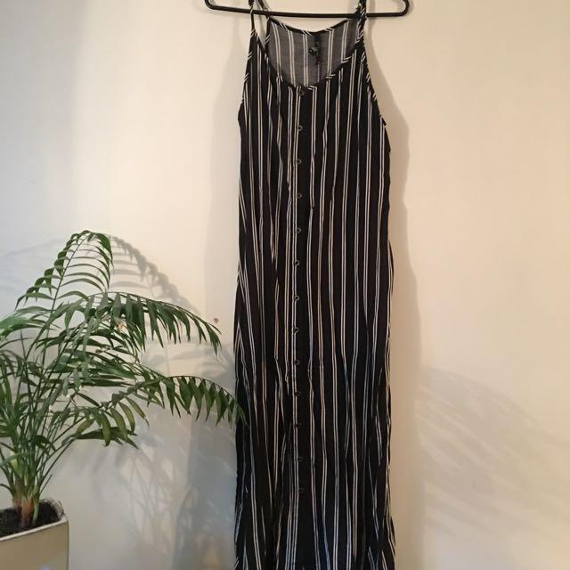 Midi/ Maxi Stipe Button Dress