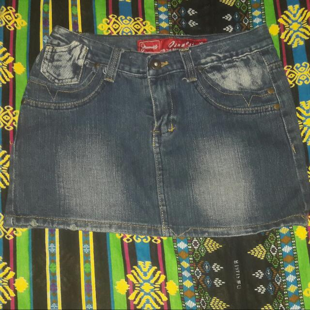 Mini Skirt (Maong)