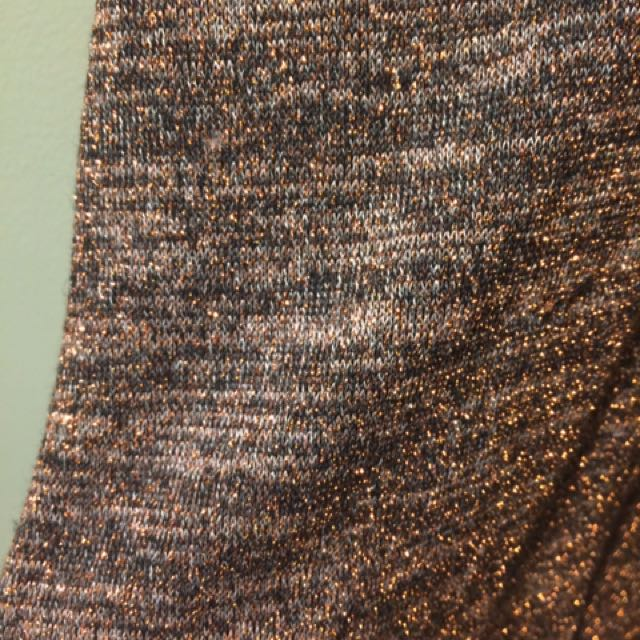Missguided Bronze Sparkly Mini Dress