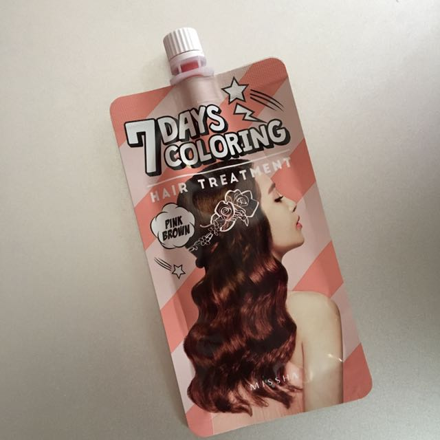 Missha 7 Days Coloring Hair Treatment Pink Brown Health
