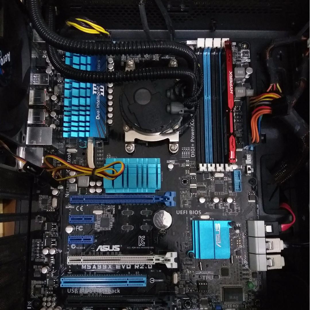 Mobo Cpu Amd Fx 6300 Asus M5a99x Evo R20 Electronics Processor Box Photo