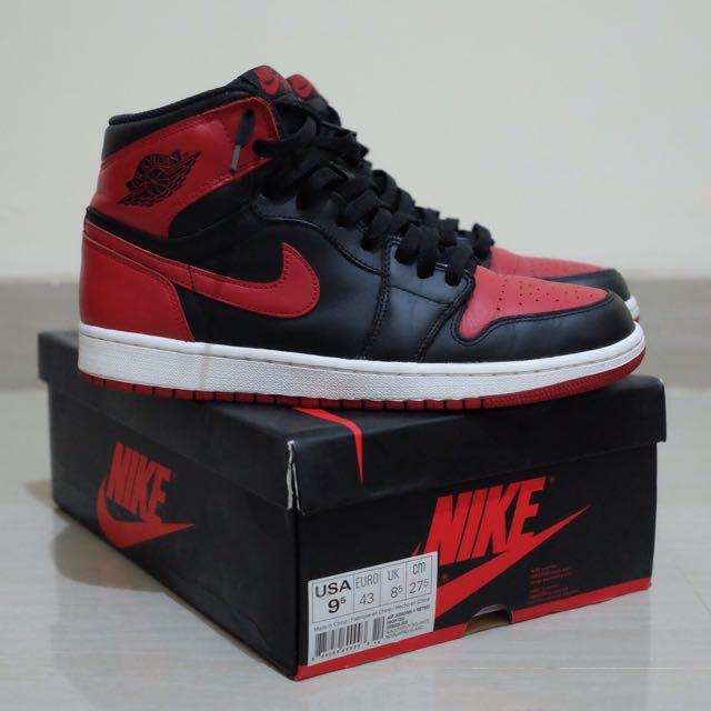 wholesale dealer 346de 06106 Nike Air Jordan 1 Bred OG 2013