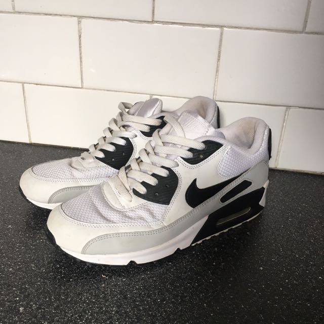 Nike Air Max 90 White And Black Men's Us 8
