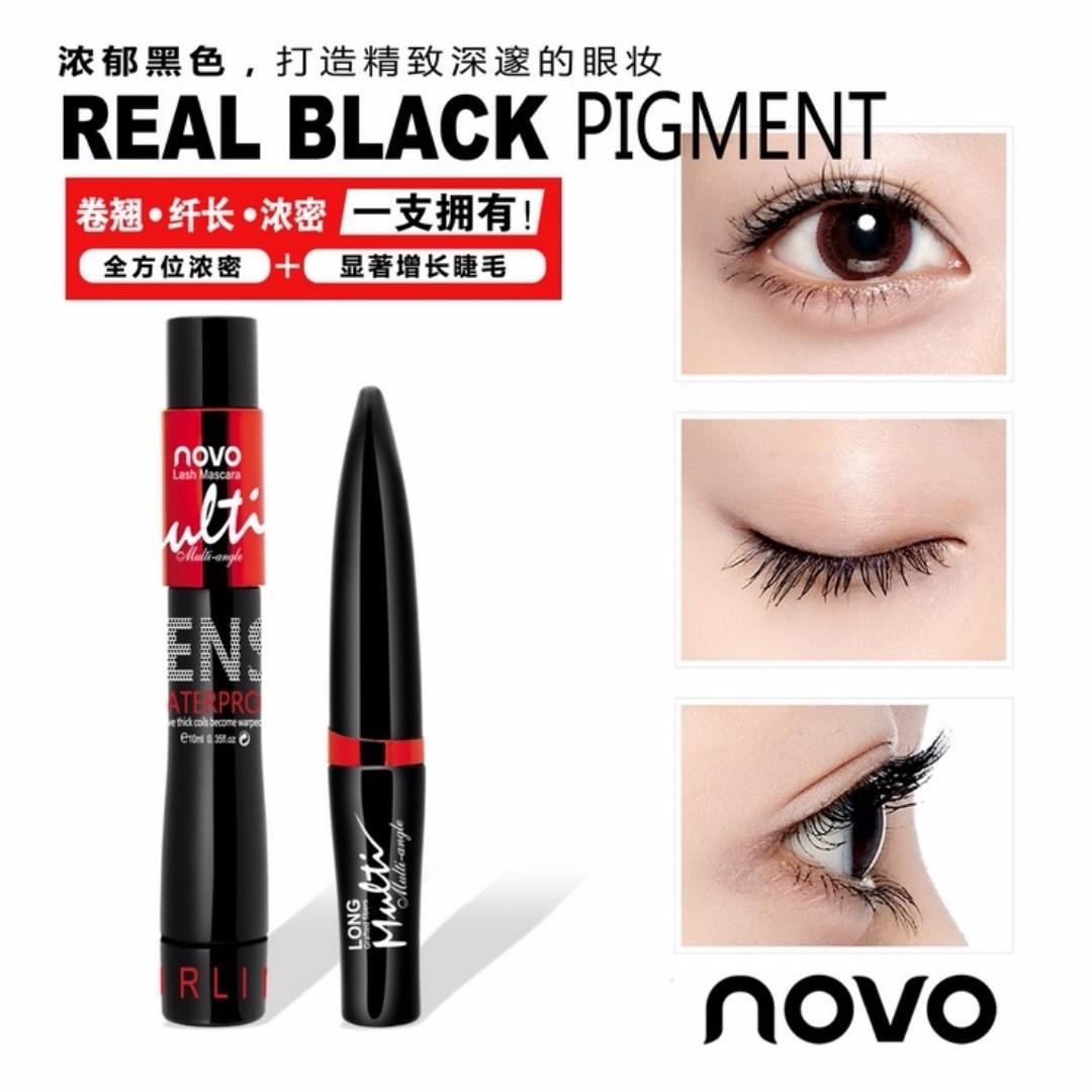 3ecf89e4fb7 NOVO 2IN1 Waterproof Mascara+Silk Fiber, Health & Beauty, Makeup on ...