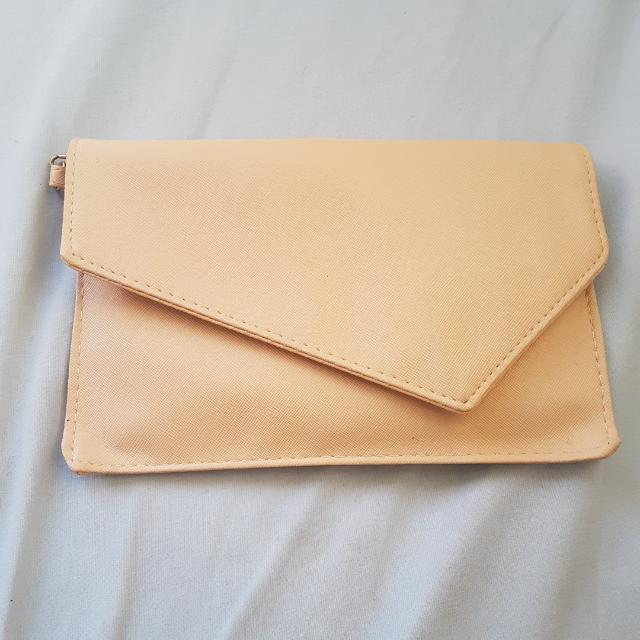Nude Sling/clutch Bag