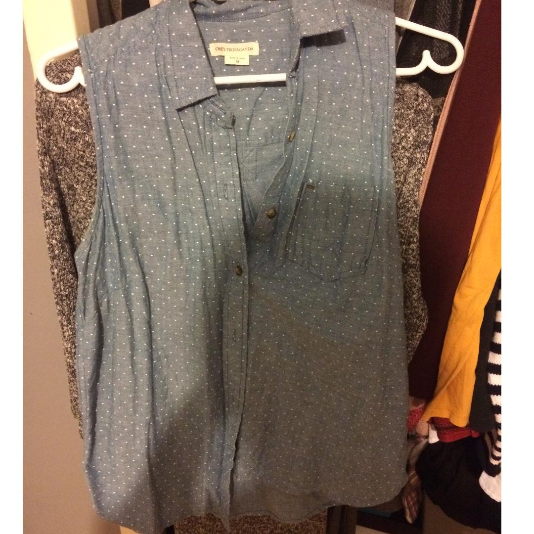 Obey Sleeveless Shirt
