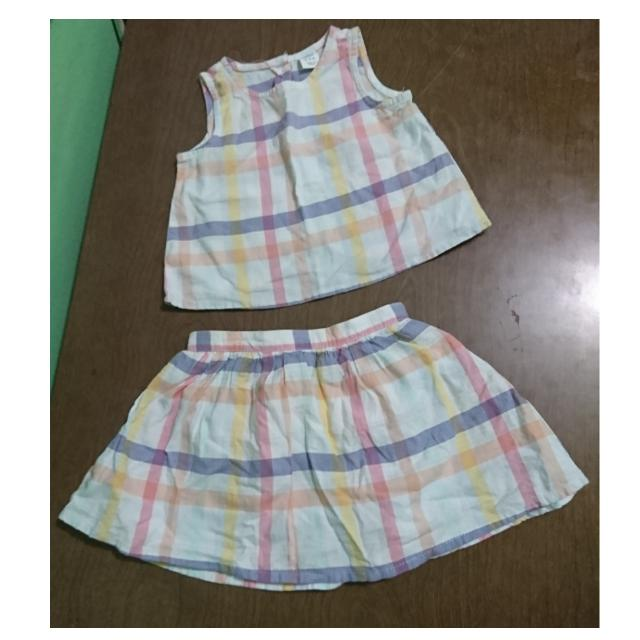 Old Navy Pastel Checkered Top and Skirt