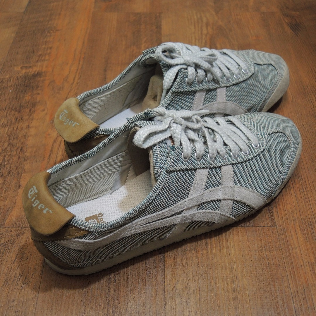 more photos 22b8d 72af8 Onitsuka Tiger Canvas Green / Grey Size 41, Men's Fashion ...