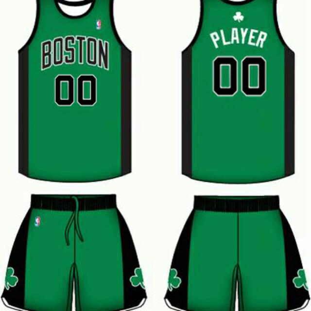 low priced c99a8 32c98 Open PO Jersey Basket Custom Anak&Dewasa Boston Celtics ...
