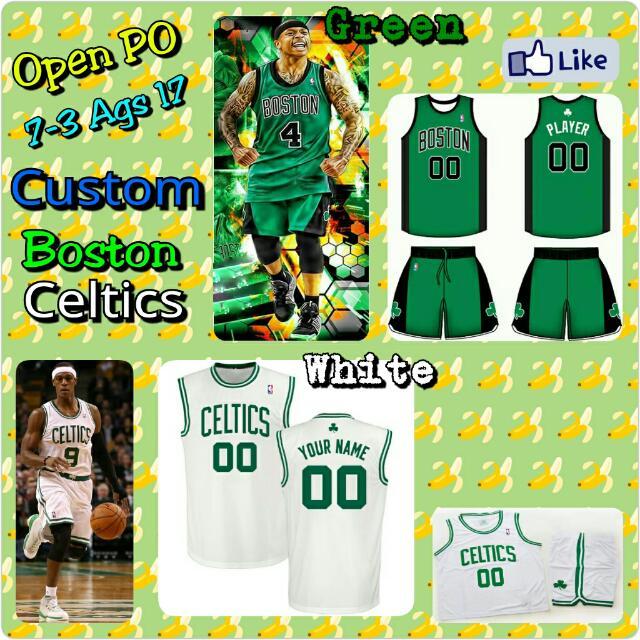 low priced 0c436 d033e Open PO Jersey Basket Custom Anak&Dewasa Boston Celtics ...
