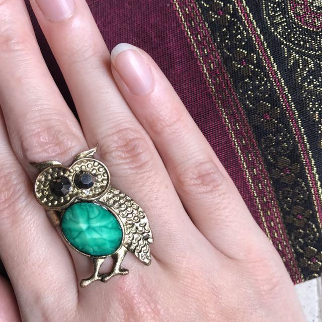 [TURUN HARGA] Owl Ring (cincin burung Hantu Full Body)