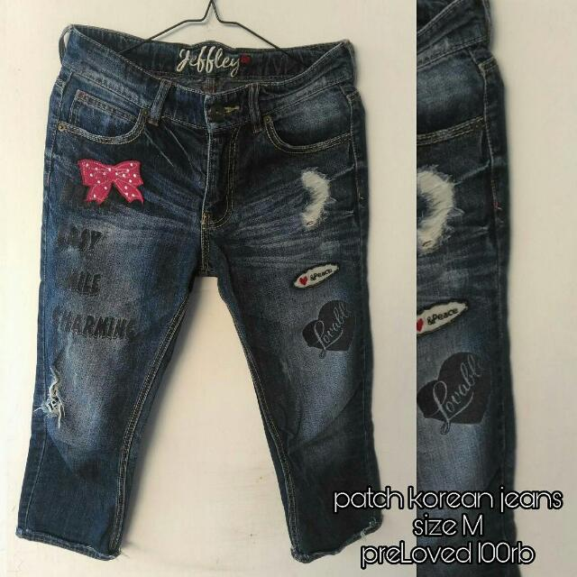 patch korean denim
