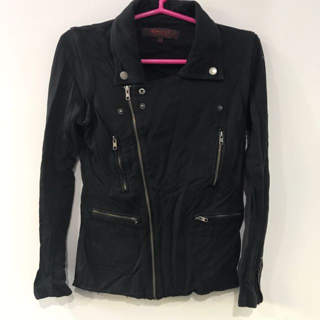 Pre-owned Cotton Biker Jacket XS
