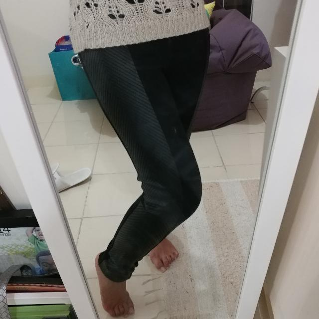 Pull&Bear Faux Leather Legging