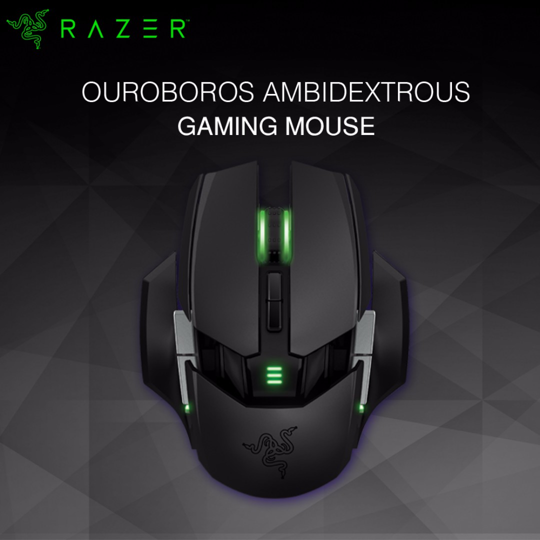 Razer Ouroboros Wired Wireless Ambidextrous Gaming Mouse Black Electronics Computer Parts Accessories On Carousell