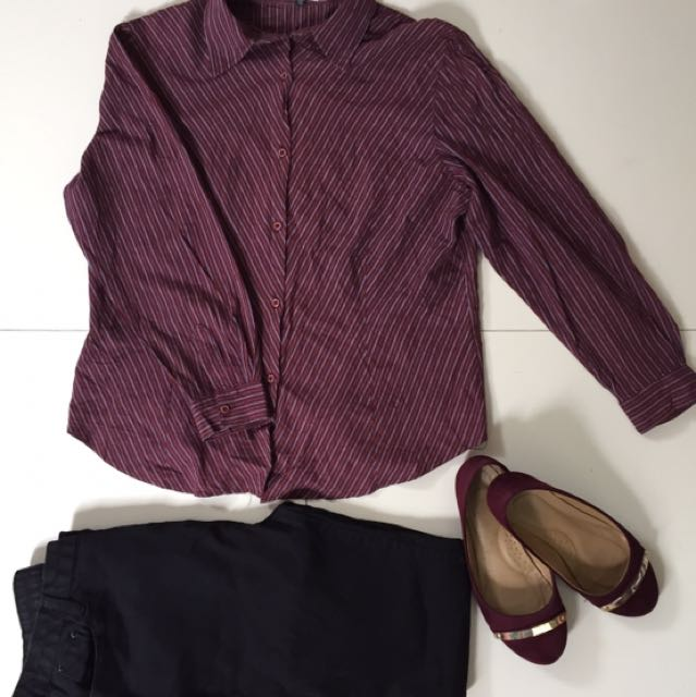 Red Corporate Blouse