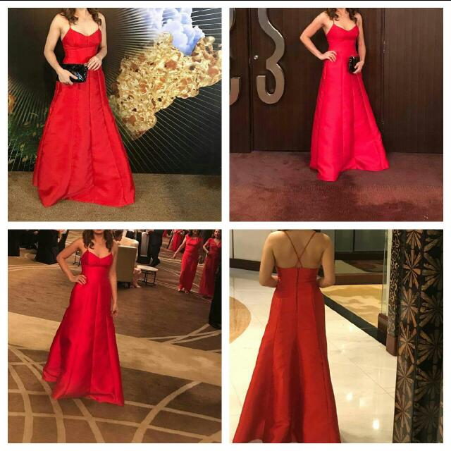rush sale: red Evening Gown By Avel Bacudio(designer Of Ms Venezuela ...