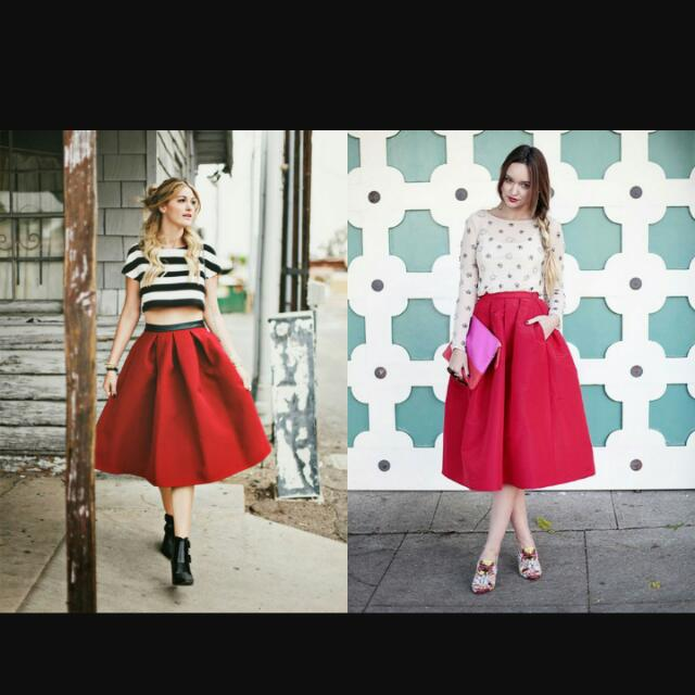 Red Skirt High Quality Import