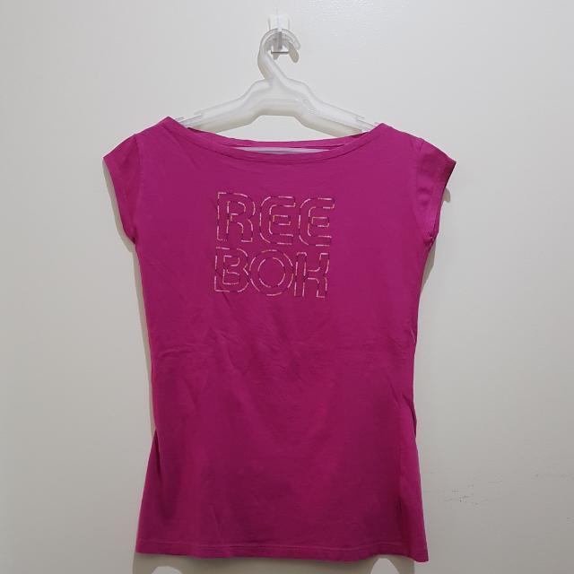 REEBOK| Fuschia Boatneck Activewear Shirt