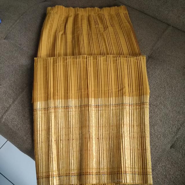 rok plisket panjang