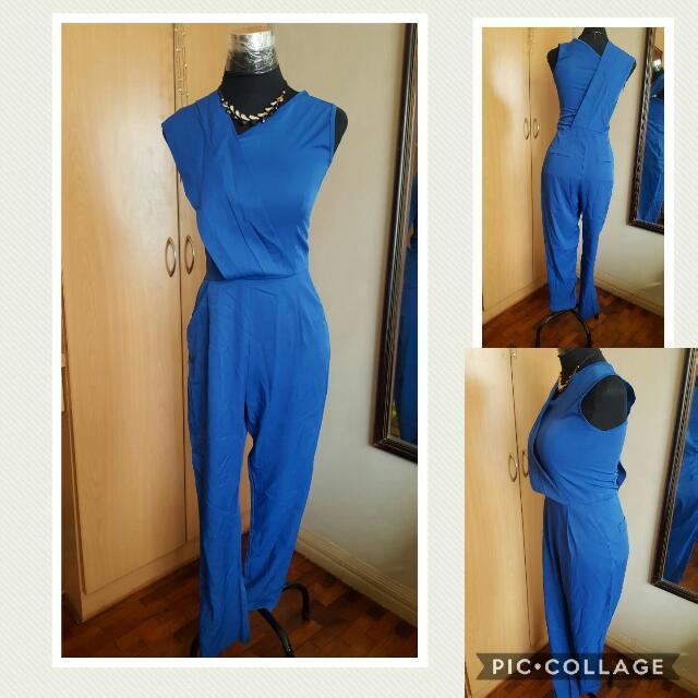 fb2b33f174a royal blue sexy sleeveless jumpsuit