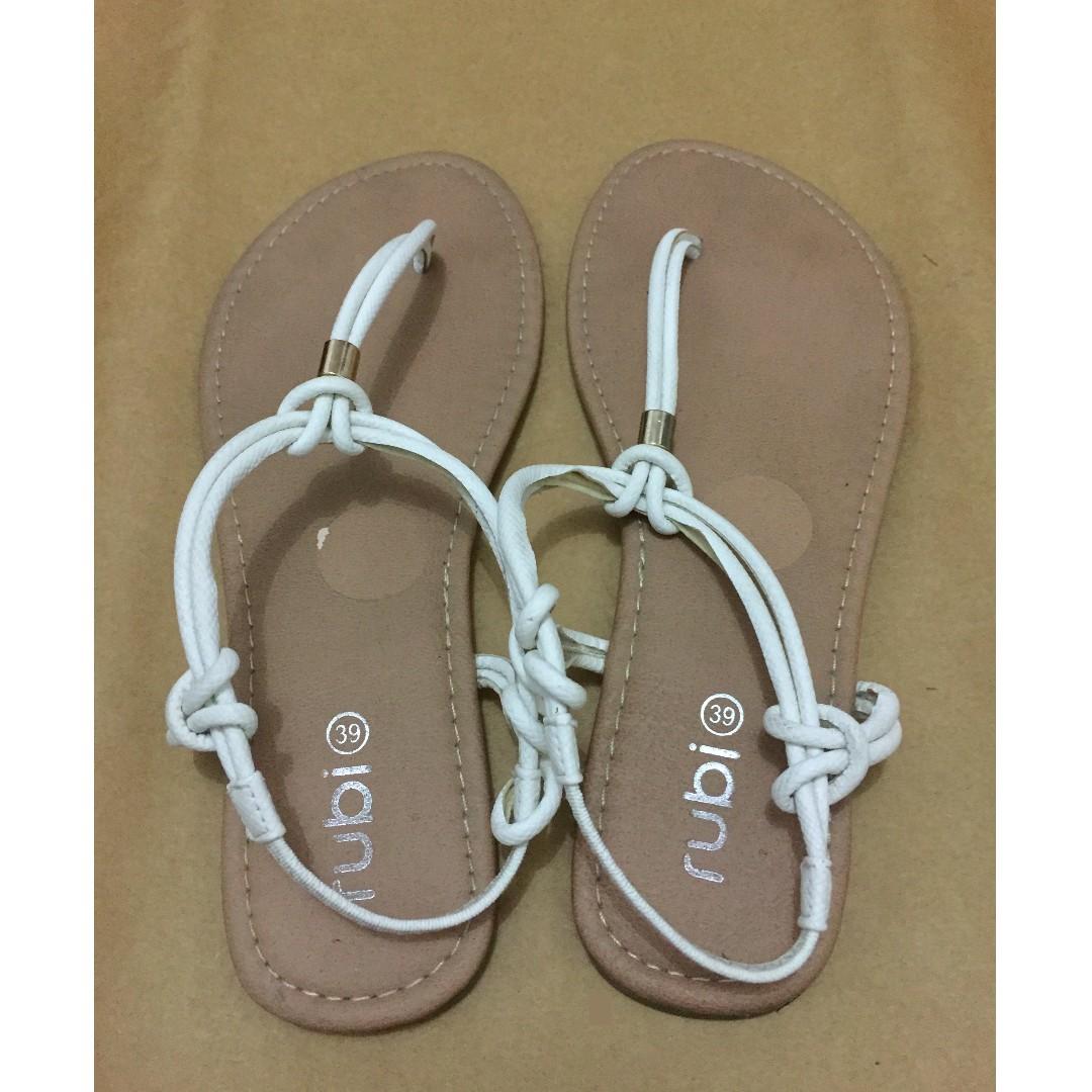 Rubi white strappy sandals